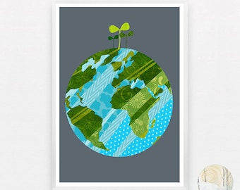 Earth Day A3 Print