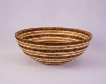 "15"" x 5.75"" Segmented Bamboo Bowl ""Layers"""
