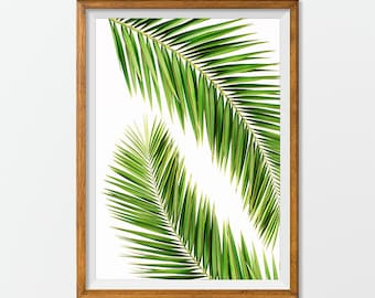 Palm Tree Print, Palm Tree Art - Palm Tree Printable, Palm Tree Artwork Office Decorations, House Decor Wall Art Print