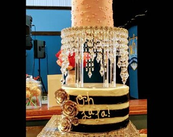 2 set Wedding Cake Stand/Crystal Cake Stand/2 Tier Cake Stand/Cake Stand For Wedding/Acrylic Cake Stand/ Crystal Wedding Cake Stand