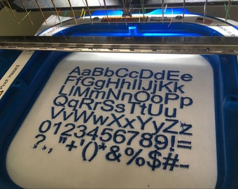 Arial Font - Machine Embroidery Font - 4 Sizes, Lettering, Alphabet, Font Set, embroidery arial front