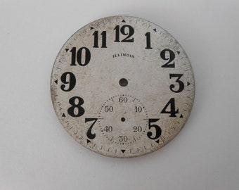 Illinois Silveroid surface Pocket Watch Dial Original 42MM(4)