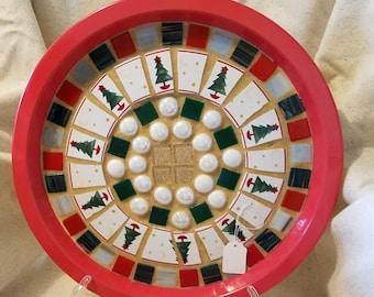 Mosaic Christmas Tree Tray