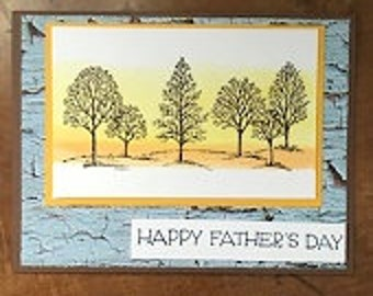 Tree Bark Father's Day Greeting Card