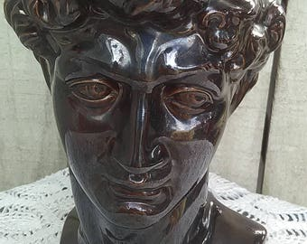 Bust of David Byron Molds Michelangelo Italy