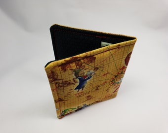 Wallet Made with Legend of Zelda Fabric Map, Nerdy Wallet, Gift for Nerds, Zelda Fabric, Geeky Wallet, Link Gift, Zelda Wallet Nerdy Gift