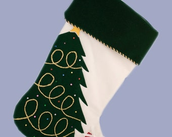 Personalized Christmas Stocking - Christmas Tree