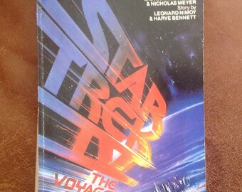 Star Trek 4 The Voyage Home cult book sci fi science fiction movie book paper back novel