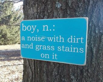 Boy Definition Wood Sign Baby Nursery Baby Shower