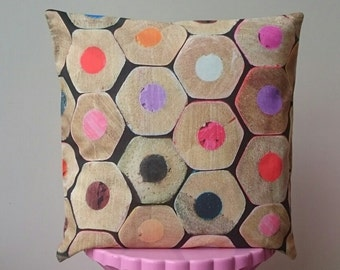 Cushion cover ' pencil ' 40 * 40