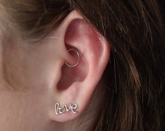 Faux rook piercing Etsy