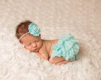 Bloomer Set, bloomer with headband, baby bloomers, newborn bloomers, ruffle bloomers, newborn photo prop