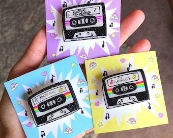 Custom mixtape pin