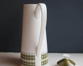 Vintage Royal Tuscan Fine Bone China Coffee Pot in Cadenza Geometric Pattern, Collectibles, Retro Pottery, Ceramic, Vintage Crockery, Teapot