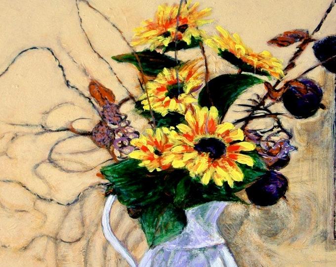 "Notecards of ""Jazzy Sunflowers"""
