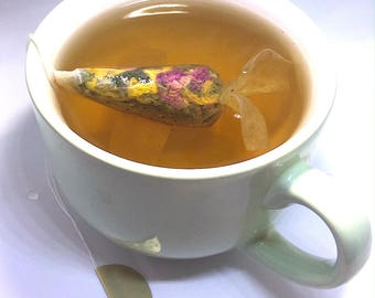 Organic Herbal tea 8 Goldfish Tea bags Sale items Make a Wish Gifts for Her Gift For tea lover gifts, tea gift set