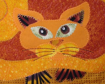 Halloween Wall Hanging - Spice Kittie Quilted