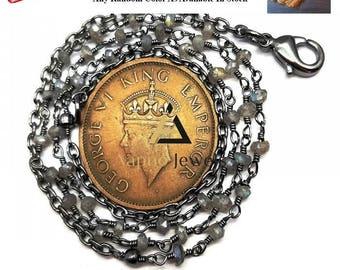 Natural labradorite rosary beads chain necklace, labradorite necklace, rosary necklace, beads chain necklace, catholic rosary