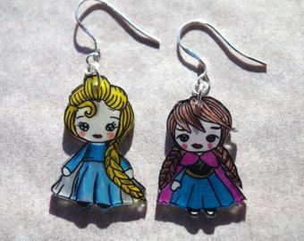 elsa and anna earrings