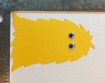 Monster with Wigglely eyes die cut