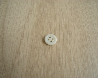 Ivory glass button four hole