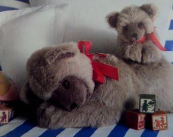 MOMMY & BABY BEAR Pattern • Butterick 4423 • Soft Stuff Bear • Toy Bear • Stuffed Bear • Sleepytime Bears • Craft Patterns • WhiletheCatNaps