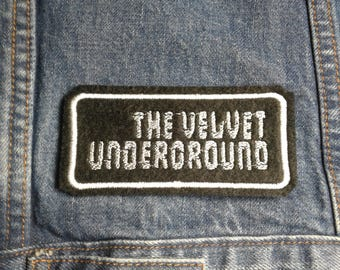 Velvet Underground  ~ Vintage Style Embroidered Patch ~ Iron-On Sew-On Active