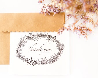 Floral Thank You Card Set (7)