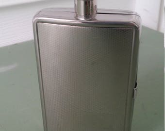 A Vintage 1998, Stainless Steel, Liquor/Cigarette Hip Flask