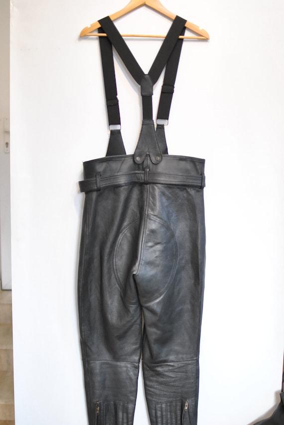 PANTS Vintage pants biker 081 women's LEATHER MOTORCYCLE URqxwRapn