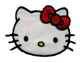 Hello Kitty head patch