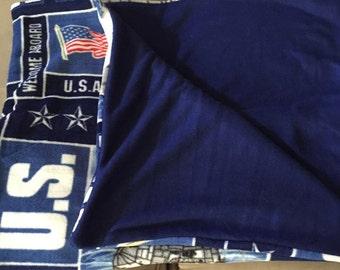 Military Fleece Blanket