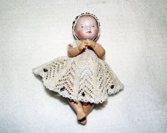 Antique Repro Doll, ca. 13 cm (103)