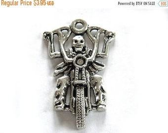 HALF PRICE 6 Large Skeleton Biker Charm - Motorcycle Charm