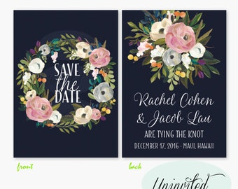 Floral Save the Date - save the date card