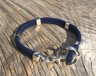 ANCHORED - Anchor bracelet in stainless steel - waterproof