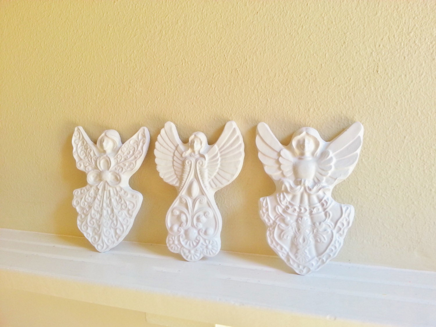 Angel wall sculptures, angel wall decor, Victorian inspired angels ...