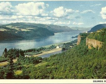Vintage Oregon Washington Postcard Columbia River Gorge