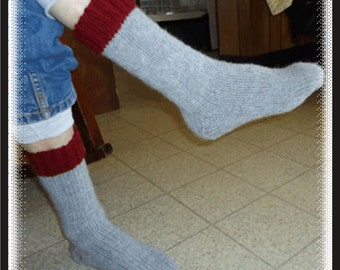 Pattern to Knit these Toasty Men's Socks Great for Hunting Socks