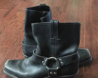 FRYE Moto Boots; Women's Vintage Designer Harness Boots Size 8.5