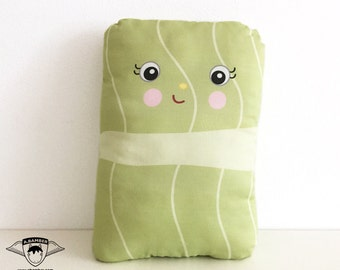 Holubtsi (Ukrainian Stuffed Cabbage Roll) Throw Pillow - Female- Cute Fabric Food made by Adrianna Bamber