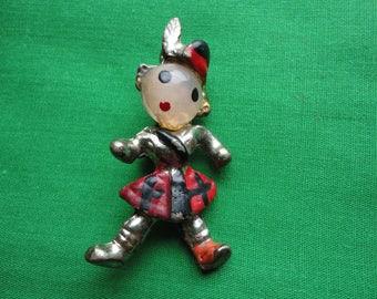 Vintage Figural Scotsman Brooch