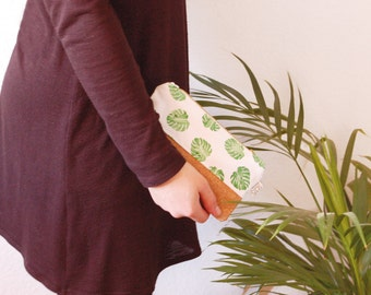 cosmetic bag - monstera