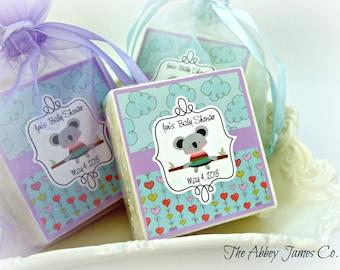 Baby Boy shower Favors, Koala bear, baby shower favors, set of 10