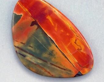 Cherry Creek Picasso Jasper - Hand Cut Freeform Gemstone Designer Cabochon