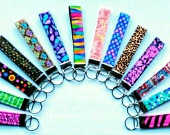 Fabric wristlet keychain, fabric keychain, key fob, keychain, key fob wristlet, key fob, fabric key fob wristlet,