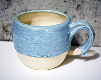 Pottery Mug, Ceramic Mug, Handmade Mug, Handmade Pottery, Coffee Mug, Tea Mug, Blue Mug, Curvy Mug, porcelaine Mug, Coffee Cup, Unique Mug
