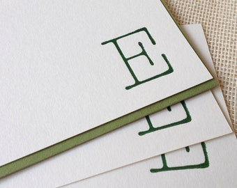 Letterpress Monogram Card Set - Typewriter