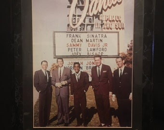 The Rat Pack Outside The Sands Casino In Las Vegas In The Early 1960s