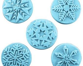 Snowflake Soap, Soap Set, Winter Soap, Novelty Soap, Guest Soap, You pick scent & color